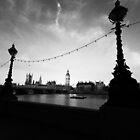 Big Ben B&W@Dawn by lallymac