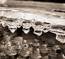 Abstract Ice on the Rappahannock River - 11 by Stephen Graham