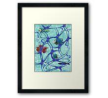 """Starfish Polka"" Framed Print"