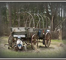 Uncovered Wagon by BarbL