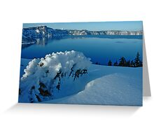 Crater Lake Winter Landscape 3 Greeting Card