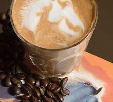 Latte Art- Horse by Carly Haddad