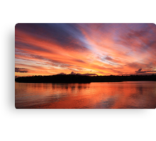 river fire Canvas Print