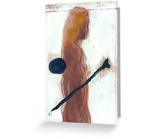 woman and bone Greeting Card