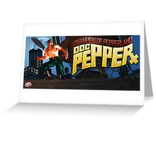 Doc Pepper - Pulp hero of Pepperland Greeting Card