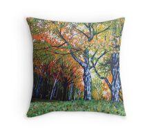'Autumn Trees Along Bass Lake'  Throw Pillow