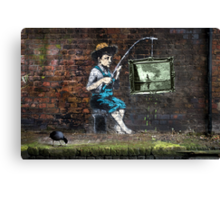 Fishing Boy Canvas Print