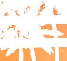 Palm Trees Grunge Sunset Sticker