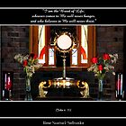 Jesus Christ in The Holy Eucharist (John 6: 35) by Rose Santuci-Sofranko
