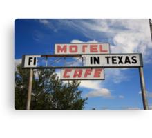 Route 66 - Glenrio, Texas Canvas Print