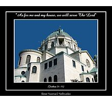 Our Lady of Victory Basilica - Joshua 24: 15 Photographic Print