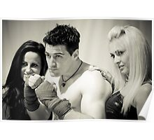 promo shot with ring girls Poster