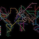 World Metro Map by ArtPrints