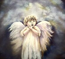 "llittle angel   20""x16"" by marie stewart"