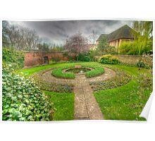 Christ Church Oxford Walled Garden Poster