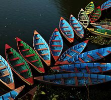 Colorful boats by Om Yadav