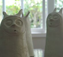 Meditation series before glaze firing by Belin