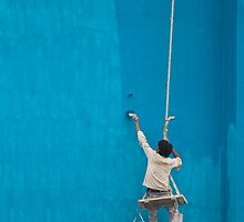 Painter at work by upadhyay