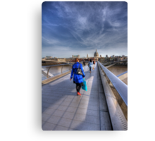 Blue Coat Canvas Print