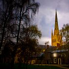 Norwich Cathedral by Evening by Shirley Shelton