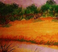 Country side, watercolor by Anna  Lewis