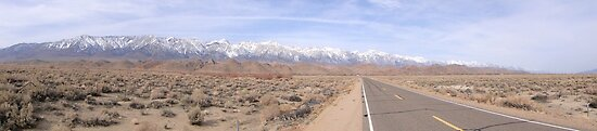High From Low - Sierra Nevada's from Death Valley by gunda96
