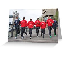 Photocall for the London marathon 2011 Greeting Card