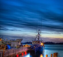 Sunset Over Woods Hole by Michael  Petrizzo