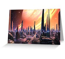 Exquisita City - Planet Calvos Greeting Card