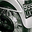 Vintage Triumph (black&white) by Lou Wilson
