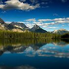 Reflections in Kananaskis, Canada by strangelight