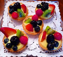 """Glazed Fruit Tarts"" by franticflagwave"