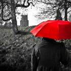 Red Umbrella by Shirley Shelton