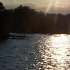 Sunset on the lake by CJuanita