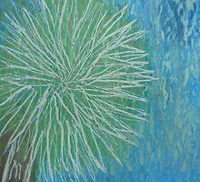 Sunny California palm tree in Spring by Safi1Sam2Makes3