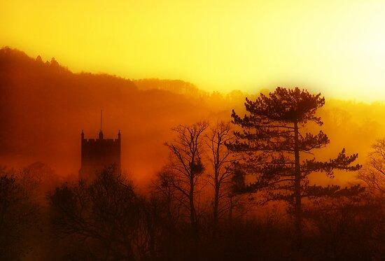 January Sunset, Cheltenham, England by Giles Clare