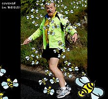 Eddie Izzard - covered in BEES by Fiona Exon