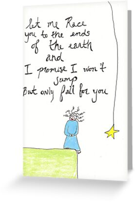 to the ends of the earth art card by April  Mansilla