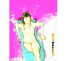 woman seaten v2 Photographic Print