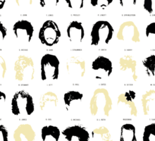 A History of Musical Hair Cuts Sticker
