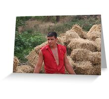 Young farmer Greeting Card