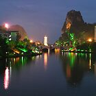 Guilin, China - Fine Art - Lights on River by fotinos