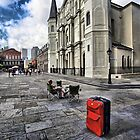 Red Suitcase by Ken Yuel