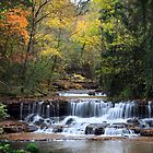 The Falls at Falls Mill in the Fall - Belvidere Tennessee by Zunazet