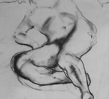 Sleeping Nude by Richard  Tuvey