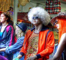 Four Mannequins waiting - Camden Fashion Shop by Victoria limerick