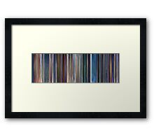 Moviebarcode: Monsters, Inc. (2001) Framed Print