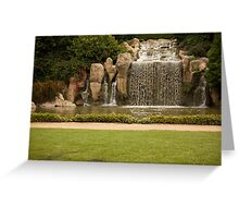 The Waterfall - Hunter Valley Gardens Series Greeting Card