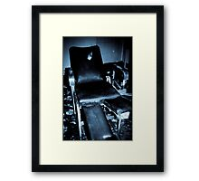 Sit down. Put your feet up Framed Print