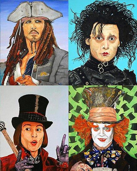 Johnny Depp collage by ManemannArt